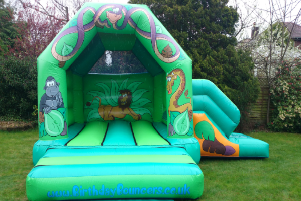 Jungle Combi Bouncy Castle large 1