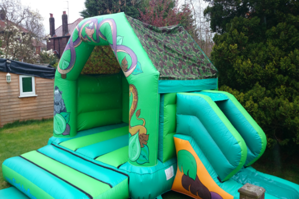 Jungle Combi Bouncy Castle large 2