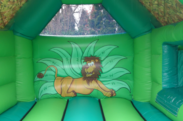 Jungle Combi Bouncy Castle large 9
