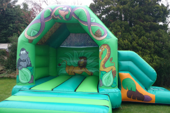 Jungle Combi Bouncy Castle large 8